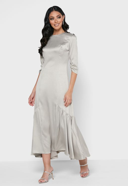 Silk Side panelled Dress