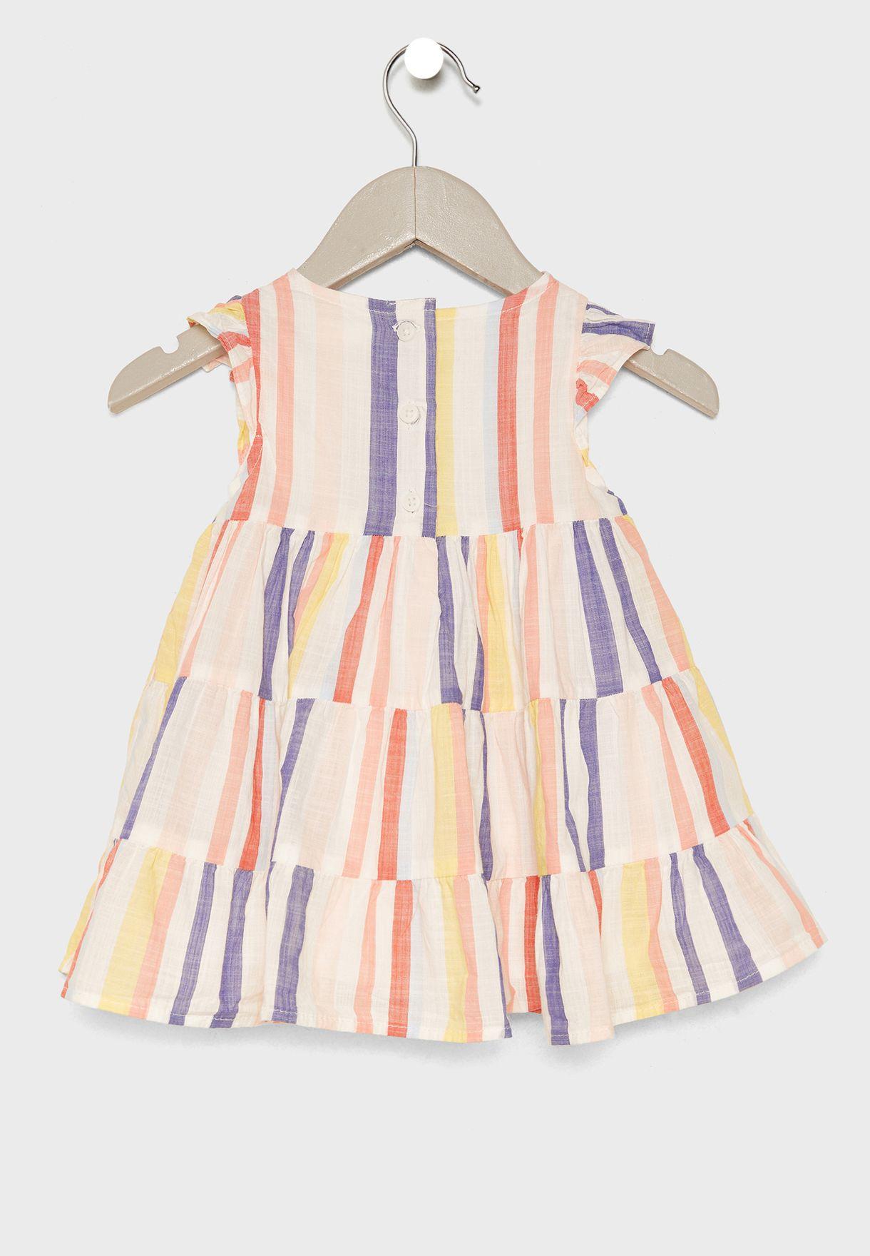 Infant Layered Dress + Shorts Set