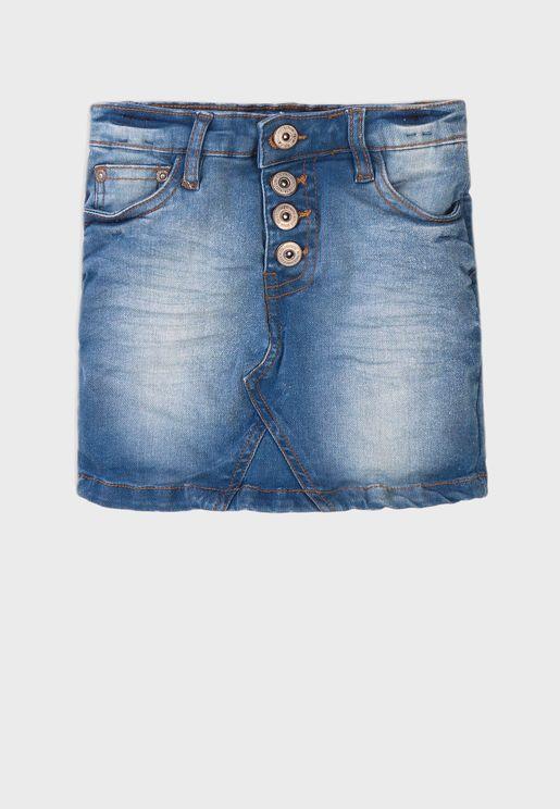 Infant Basic Denim Skirt