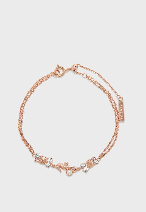 Seahorse Sparkle Chain Bracelet