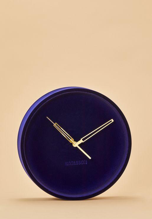 Lush Velvet Wall Clock