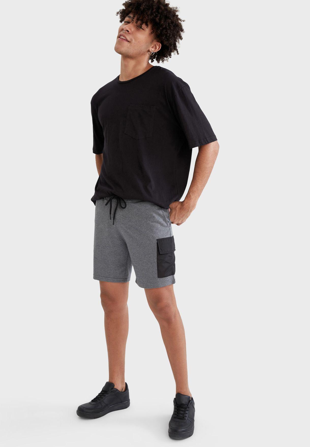 Contrast Pocket Shorts