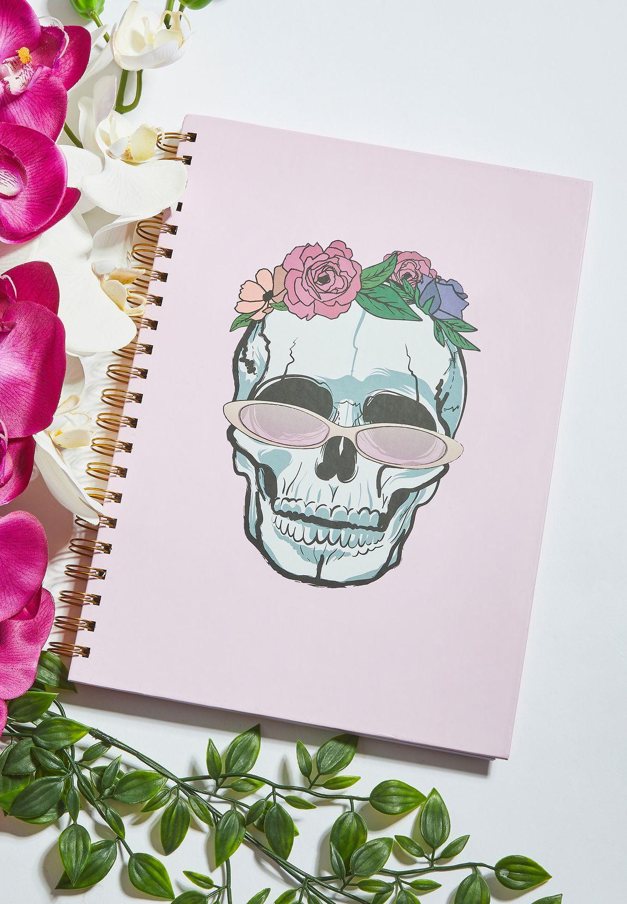 A4 Funky Skull Notebook