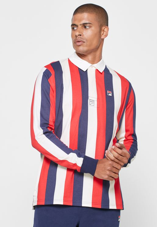 Dustin Verticle Stripe Tradit Rugby Polo