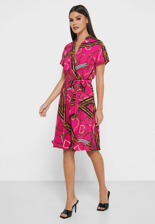 Kevina Side Tie Wrap Dress