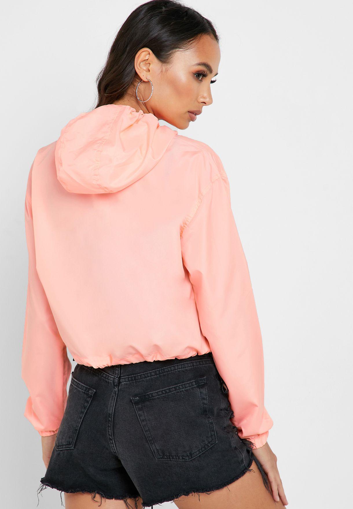 Contrast Neon Showerproof Jacket