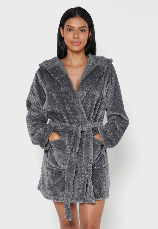 Short Fluffy Super Soft Dressing Gown