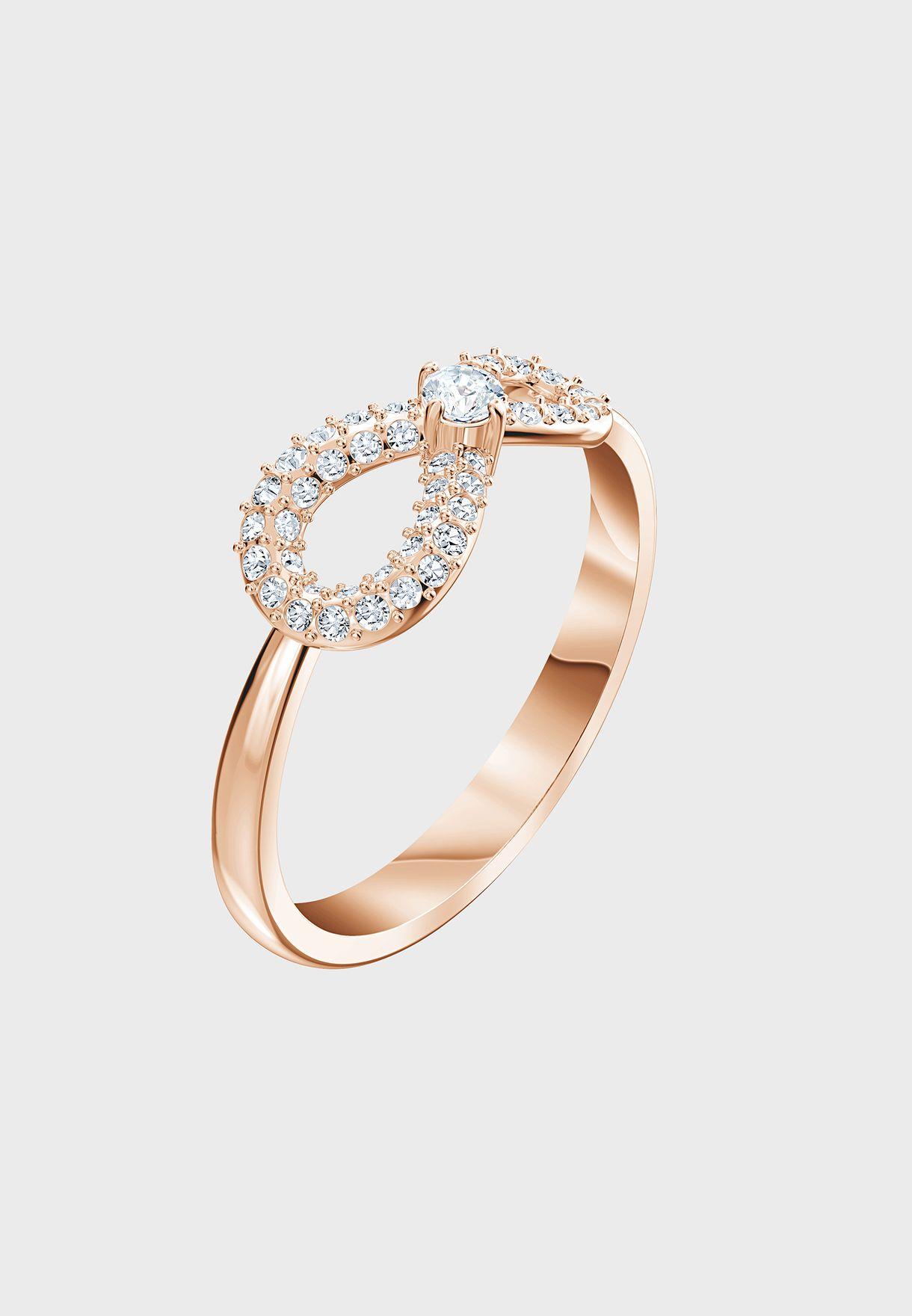 Rhinestone Infinity Ring