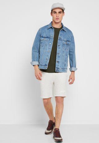 02a01b0933cd Shop Nike neutrals Flex Stride Elevate Shorts 928457-008 for Men in ...