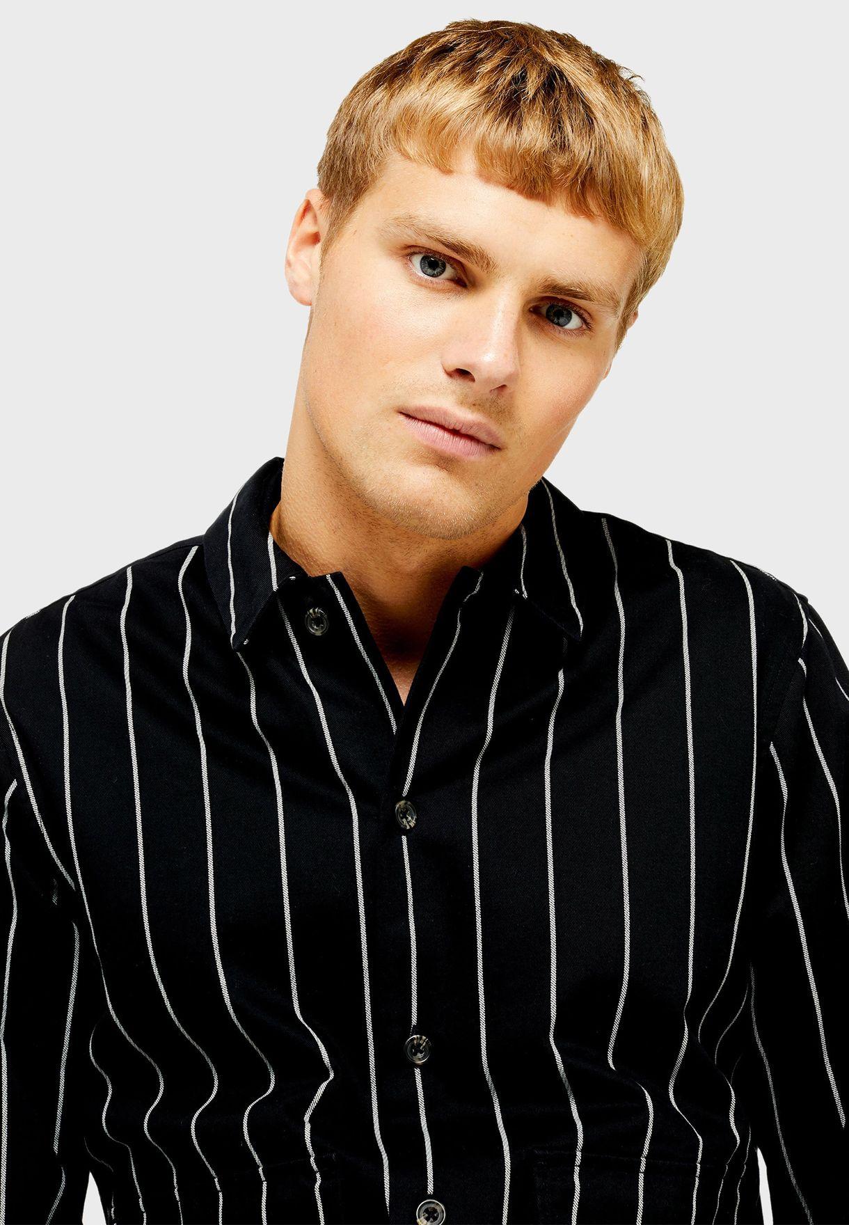 Striped Pocket Detail Shirt