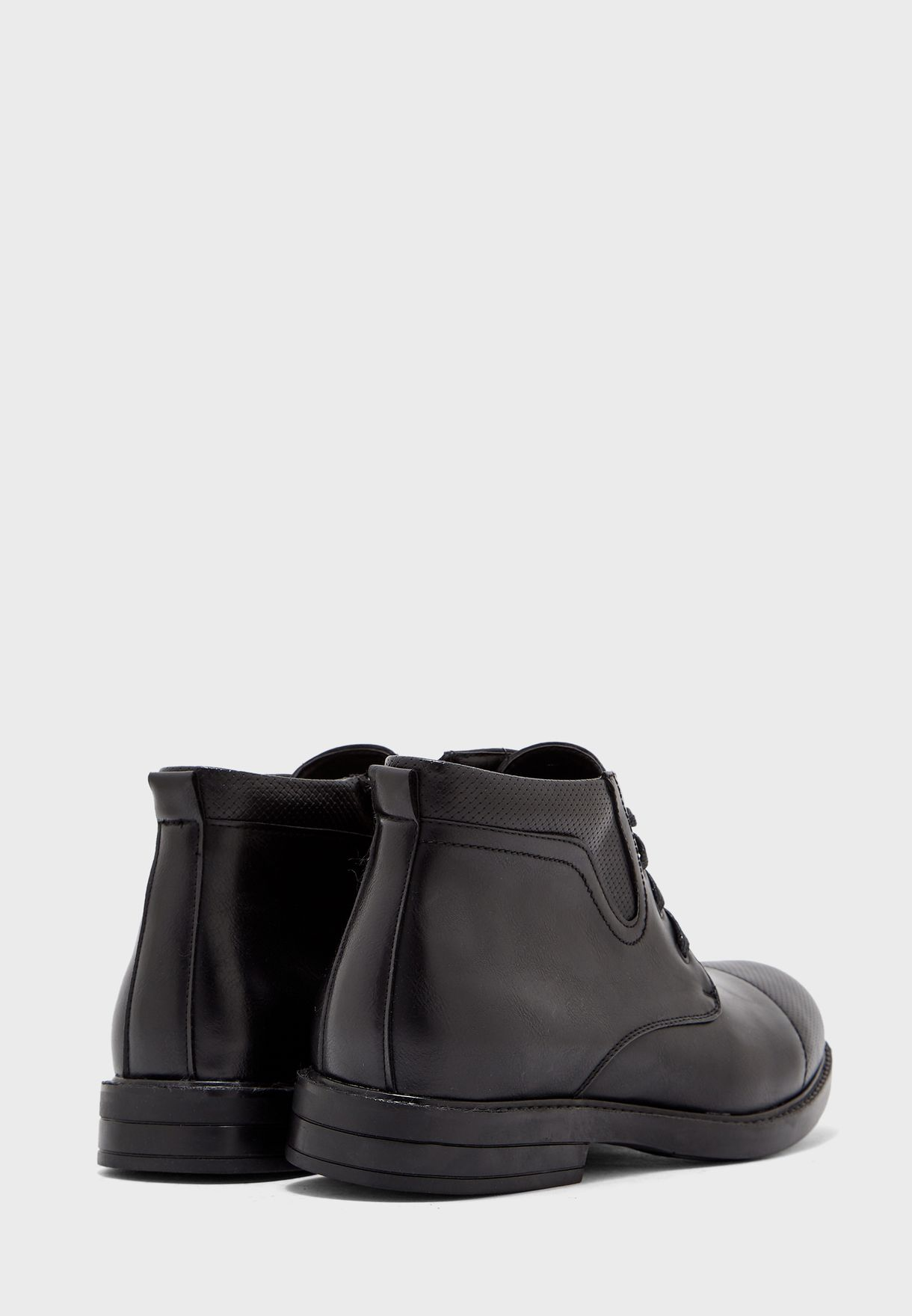 Faux Leather Formal Boots