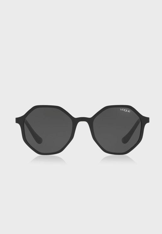 0VO5222S Hexagonal Sunglasses