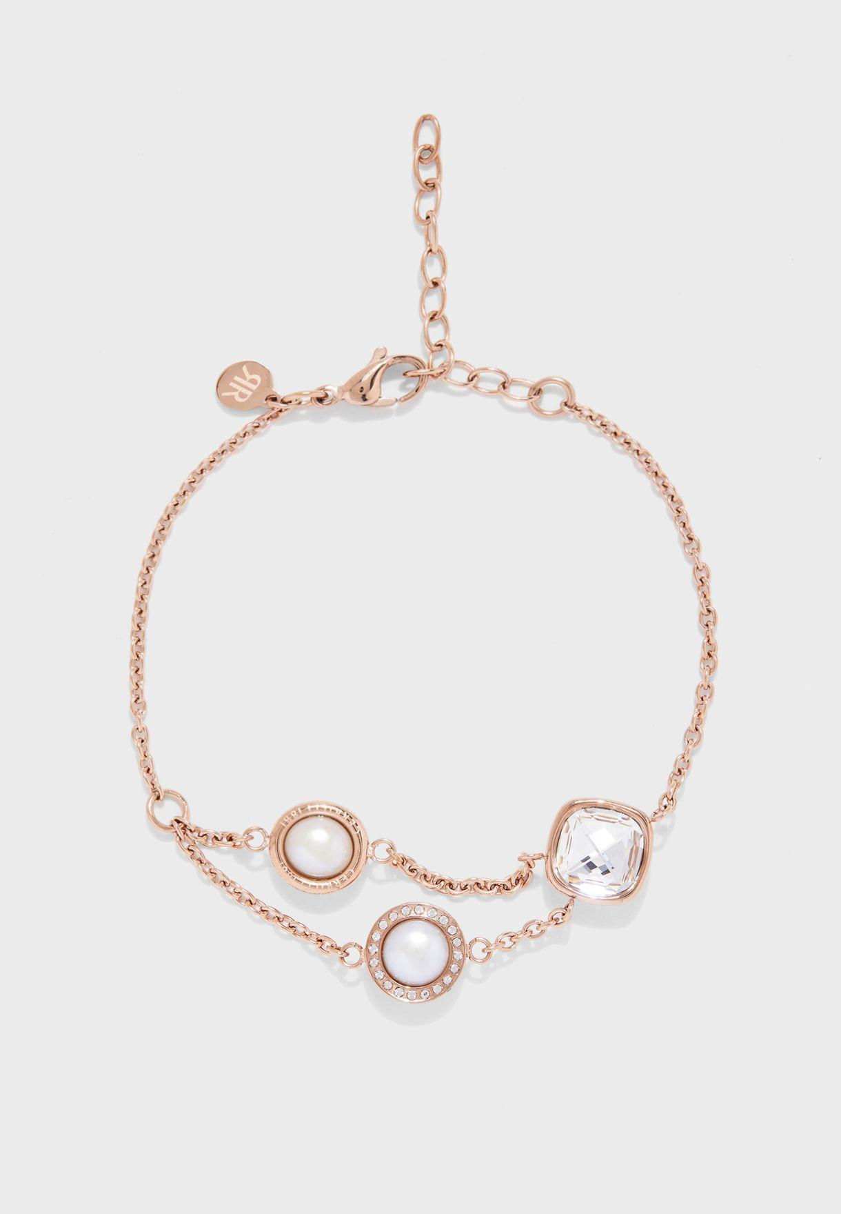 Square Swarovski Stone Bracelet