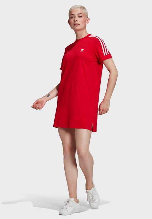 فستان بياقة مدروزة