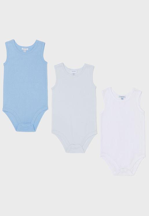 Infant 3 Pack Assorted Bodysuit