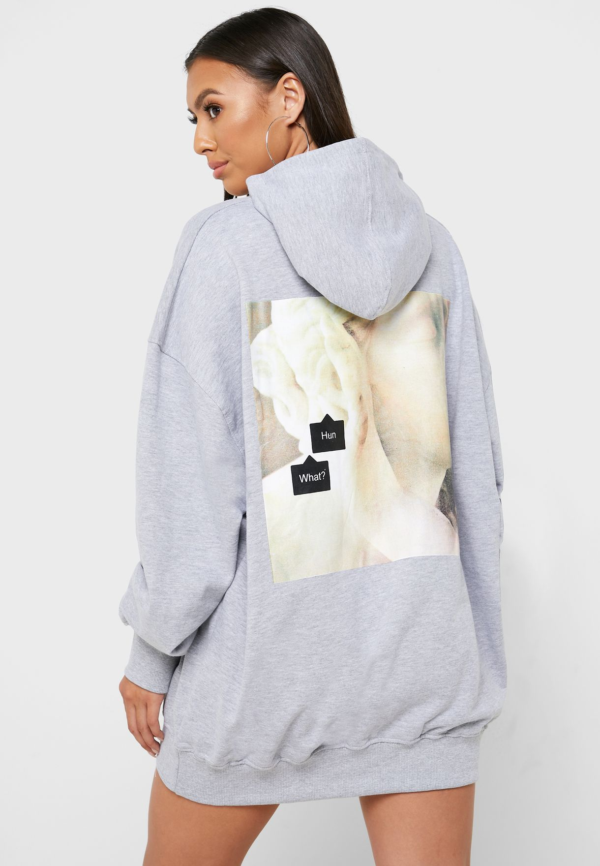 Graphic Hooded Dress