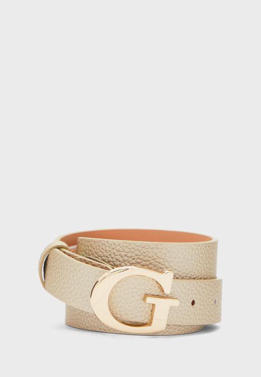 حزام مزين بشعار الماركة