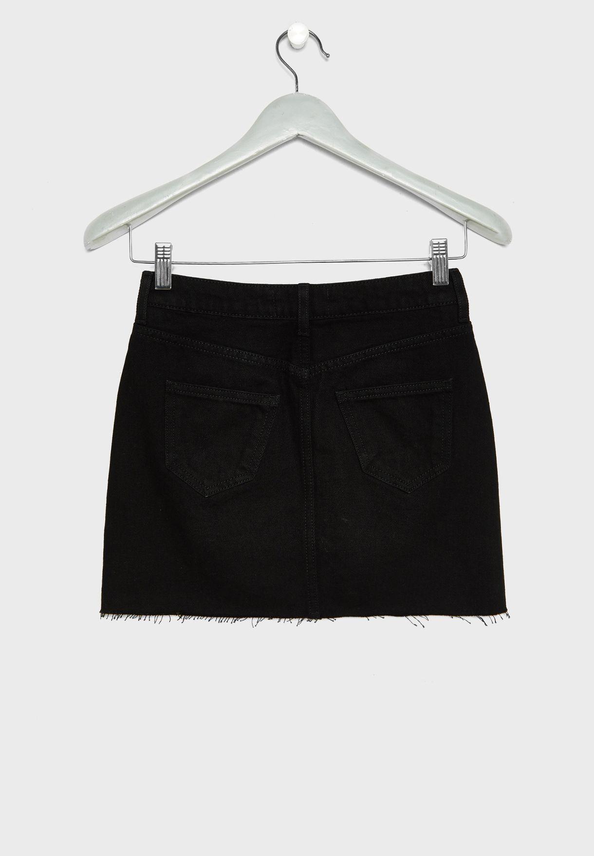 Teen Button Down Skirt