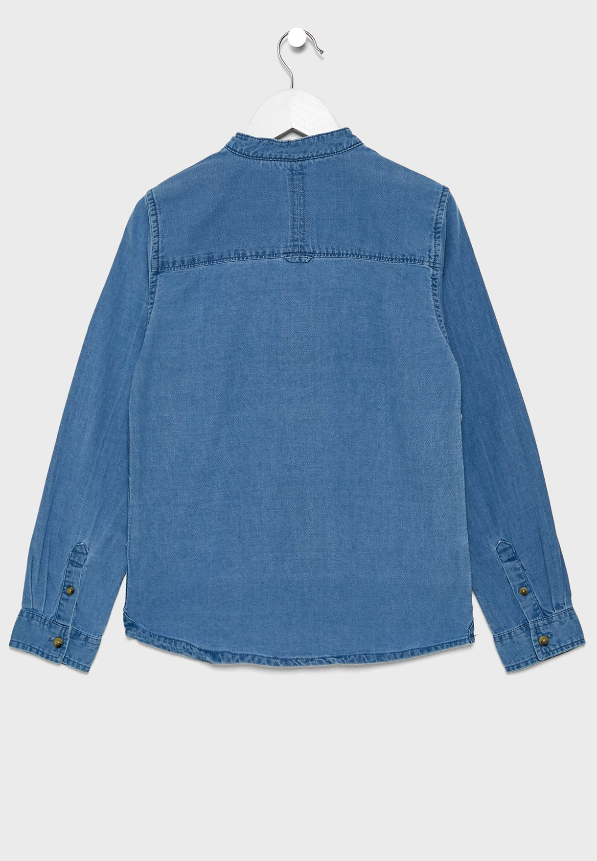 Kids Pocket Detail Denim Shirt