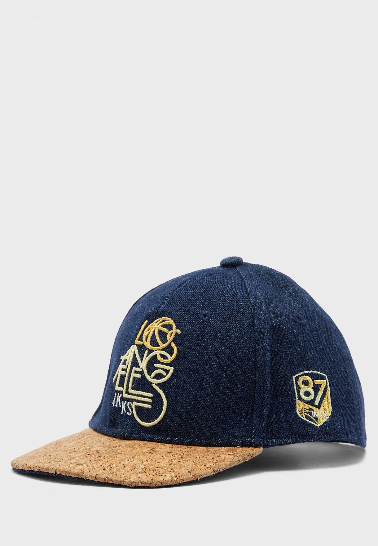 Kids Embroidered Denim Cap