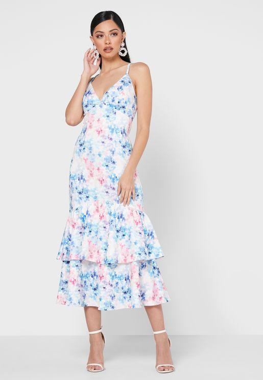 Clara Floral Print Dress