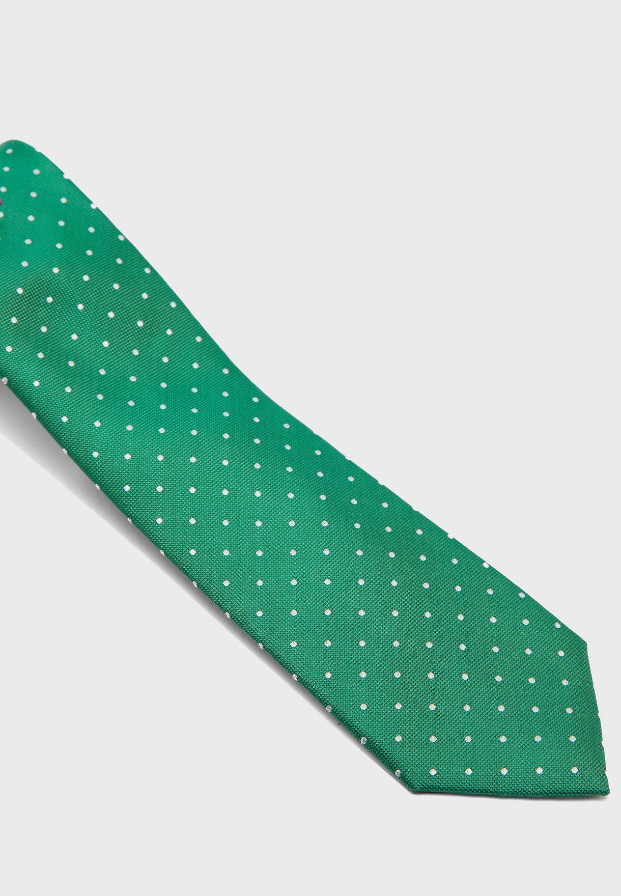 Dot Print Tie