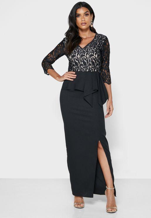 Asymmetric Overlay Dress