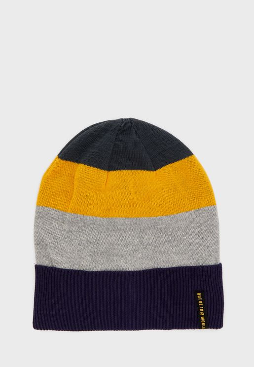 Kids Color Block Beanie