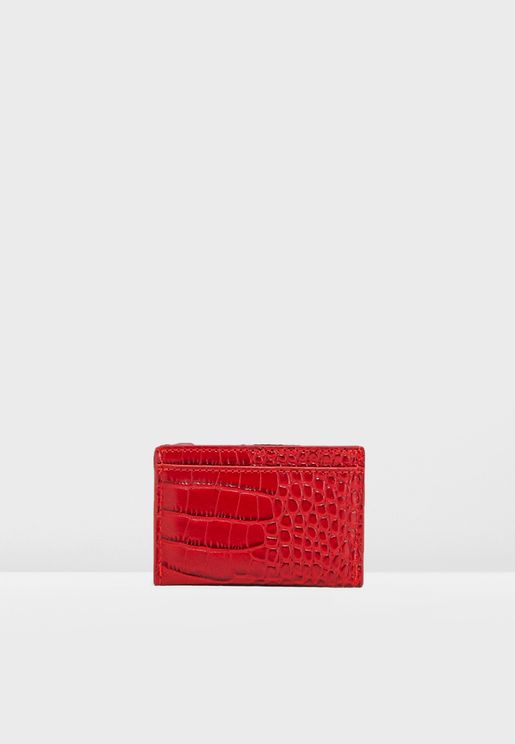 Card Holder In Mock Croc