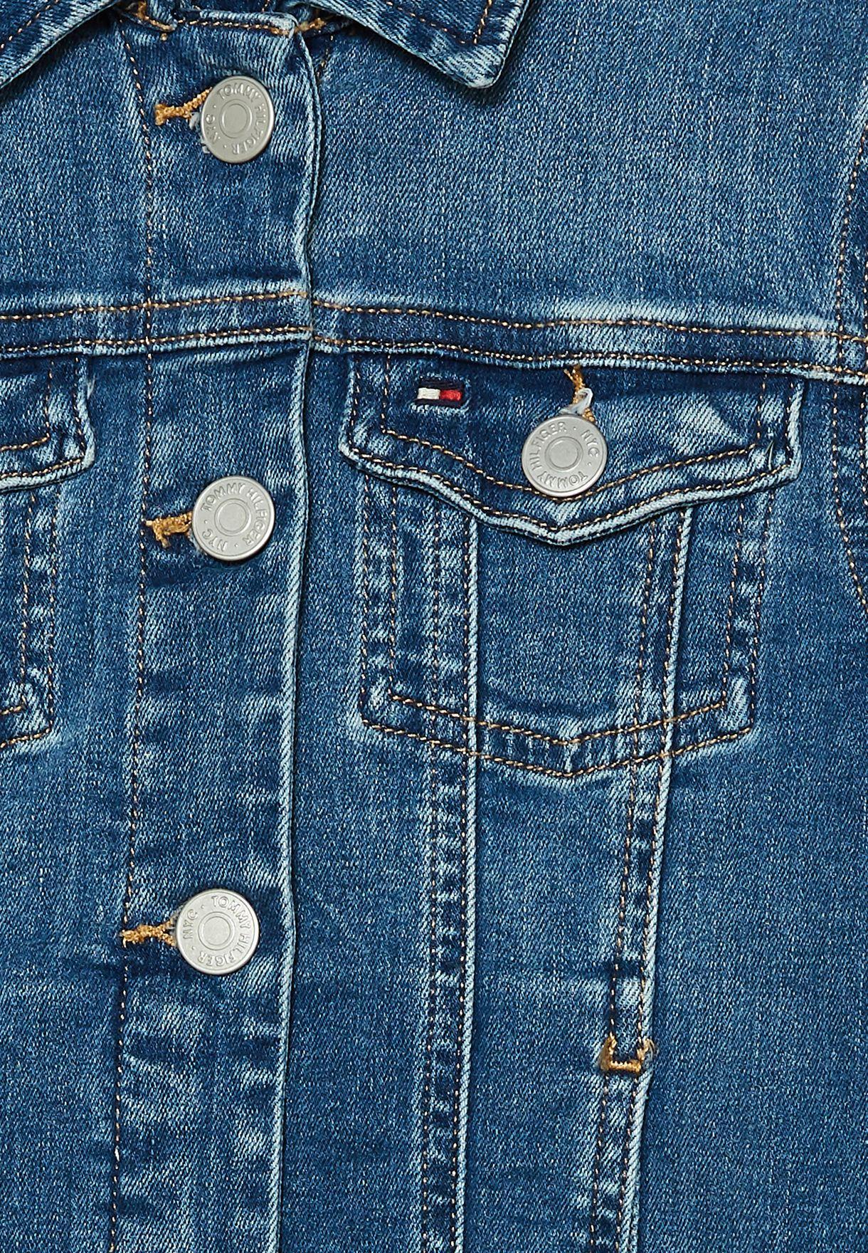 Teen Mid Wash Denim Jacket