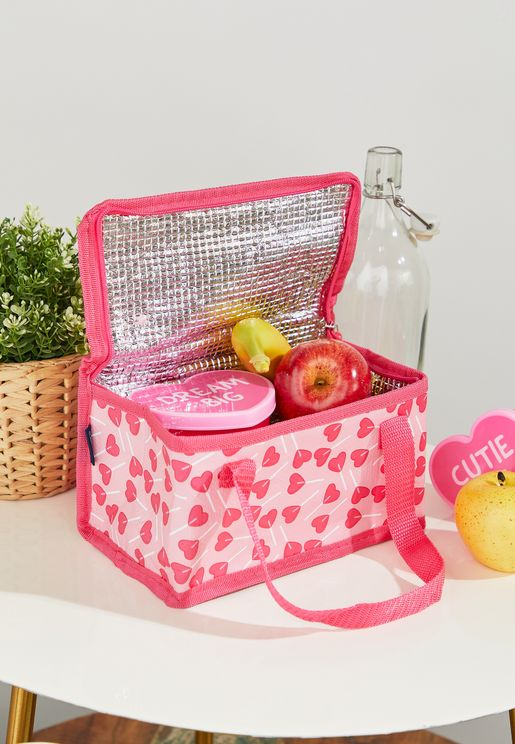 Heart Print Lunch Bag