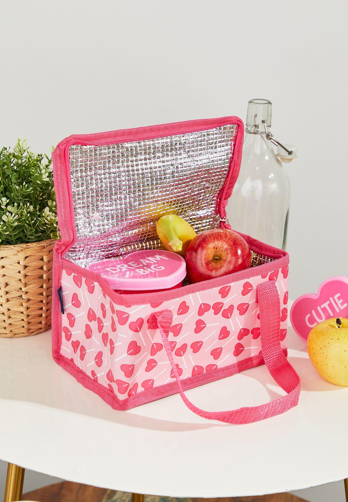 Heart Print Lunch Bag