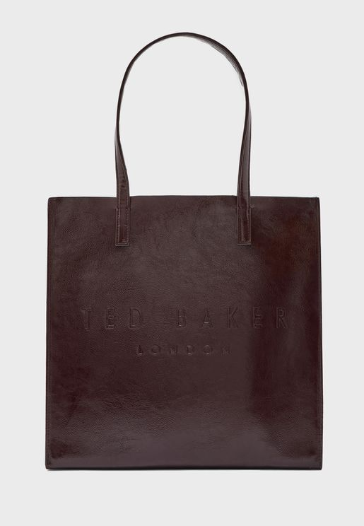 Abzcon Crinkle Patent Large Icon Shopper