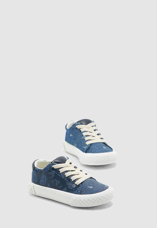 Kids Printed Denim Sneaker