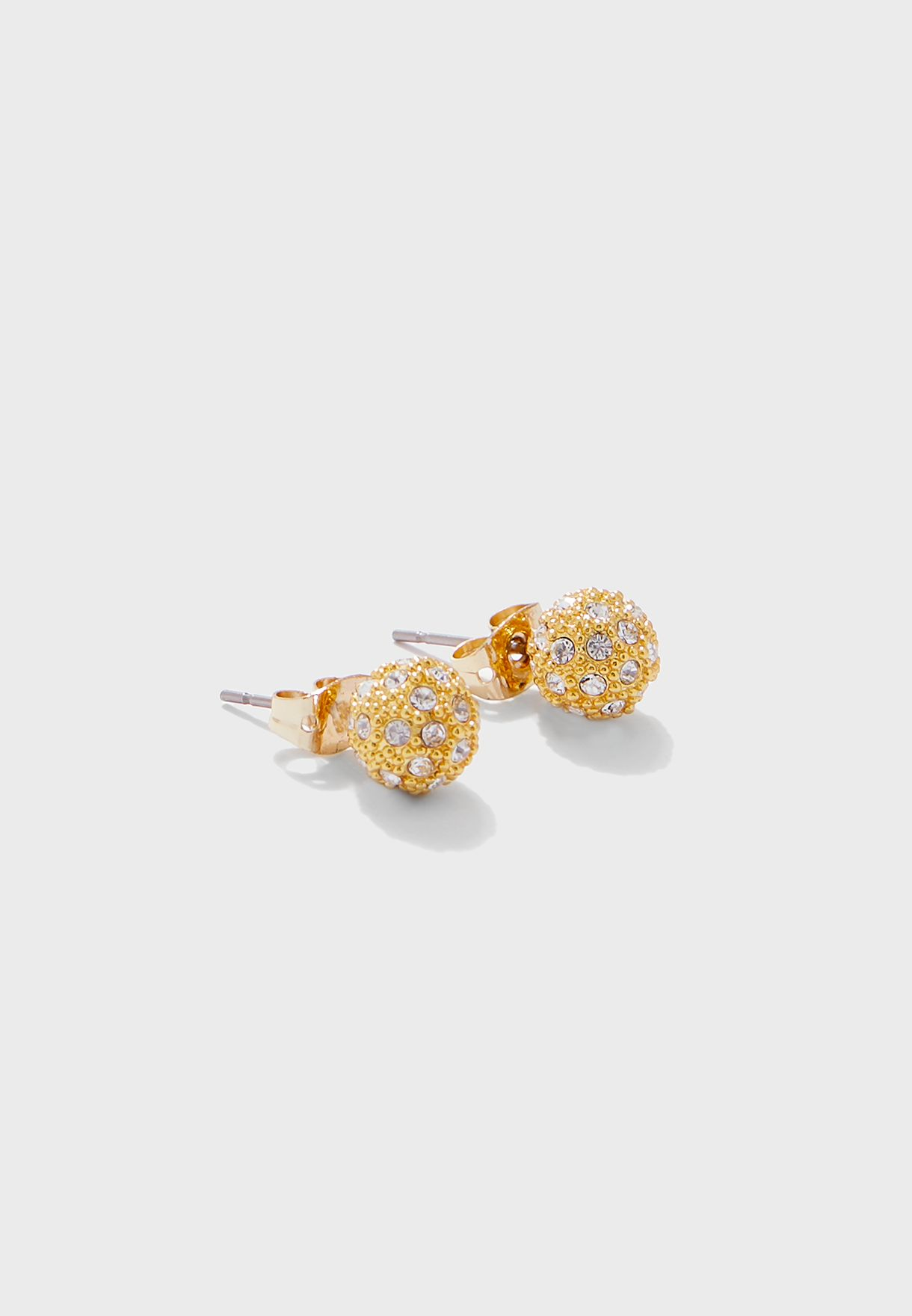 Pavly Pave Ball Stud Earrings