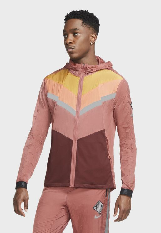 Colour Block Windrunner Hooded Jacket