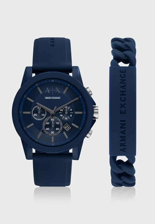 Classic Silicone Strap Analog Watch