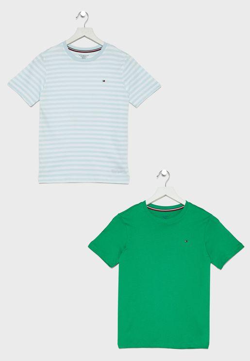 Teen 2 Pack Crew Neck T-Shirt