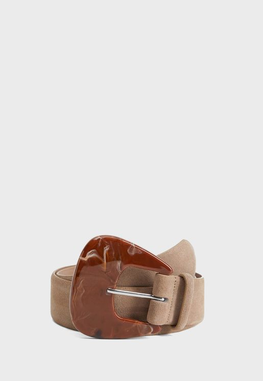 Brandon Resin Buckle Leather Belt