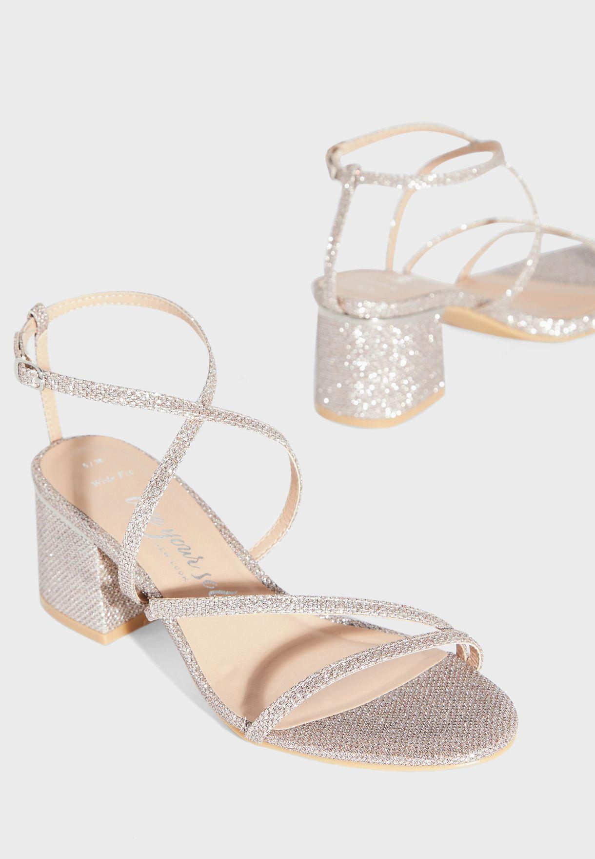 Tiamo Wide Fit Ankle Strap Buckle Detail Sandal