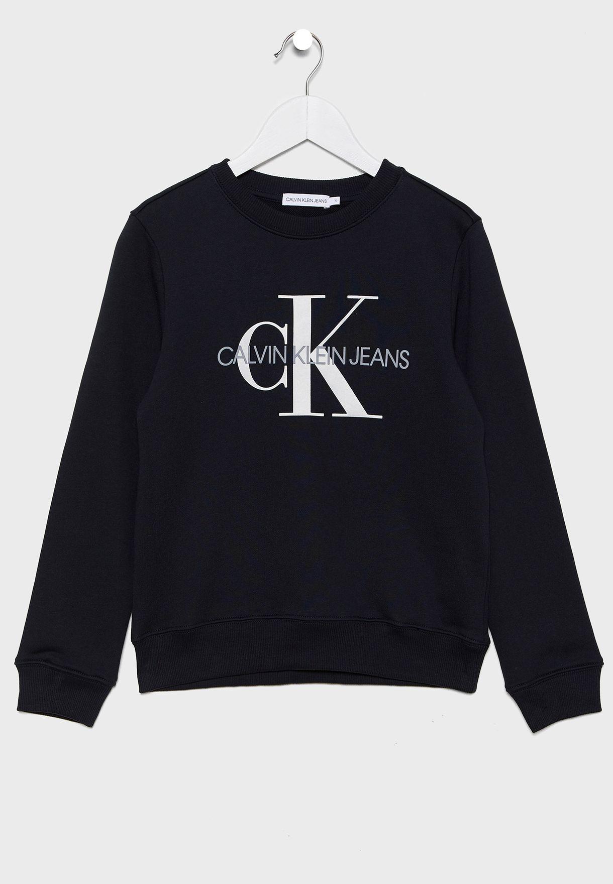 Kids Monogram Logo Sweatshirt
