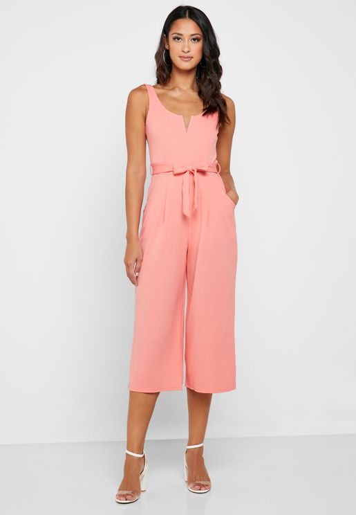 Self Tie Culotte Jumpsuit