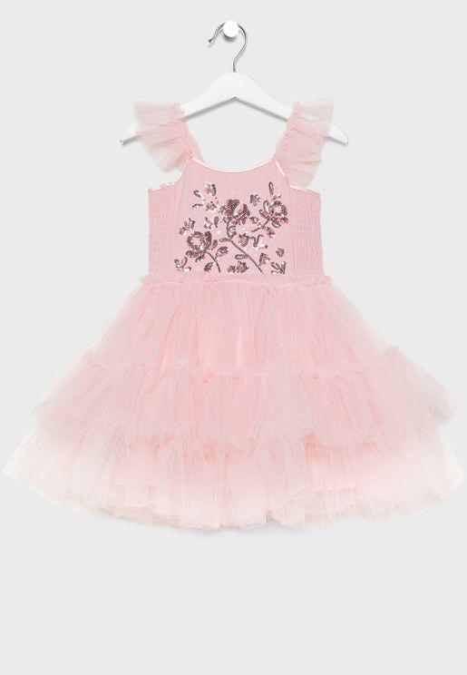 فستان اطفال تول