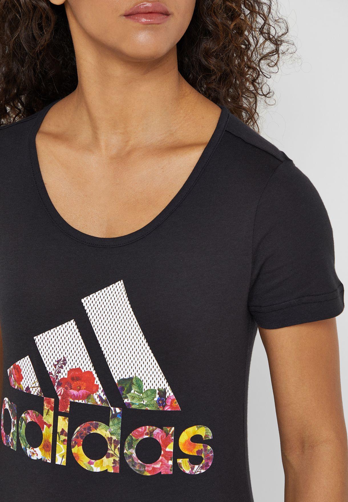 Badge of Sport Flower T-Shirt