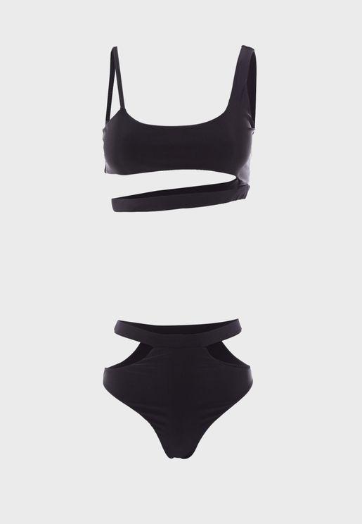 Cut Out Bikini Set