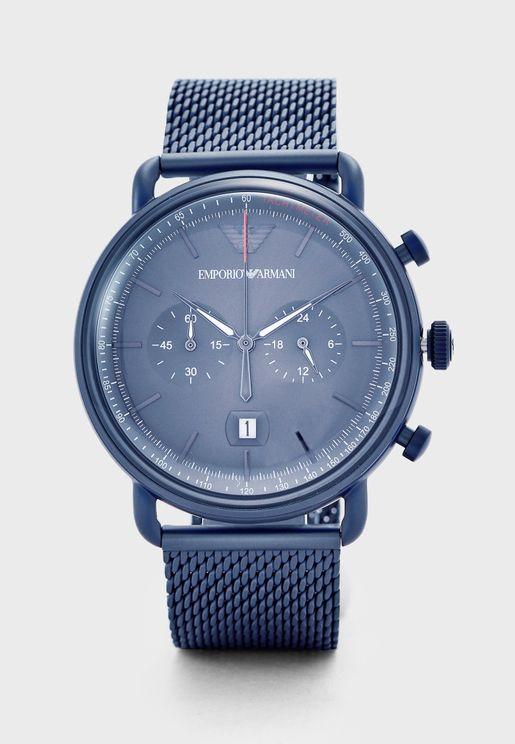 AR11289 Aviator Analog Watch