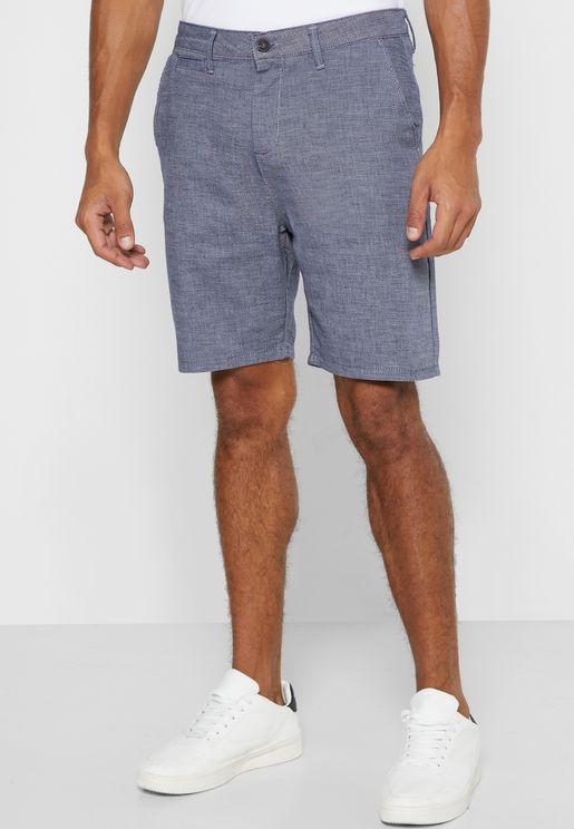 Roll Hem Chino Shorts