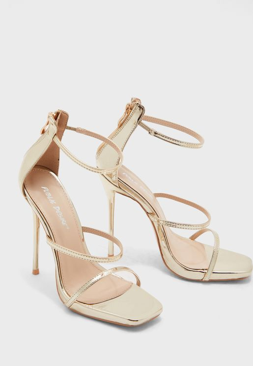 Paris Ankle Strap Sandal - Gold