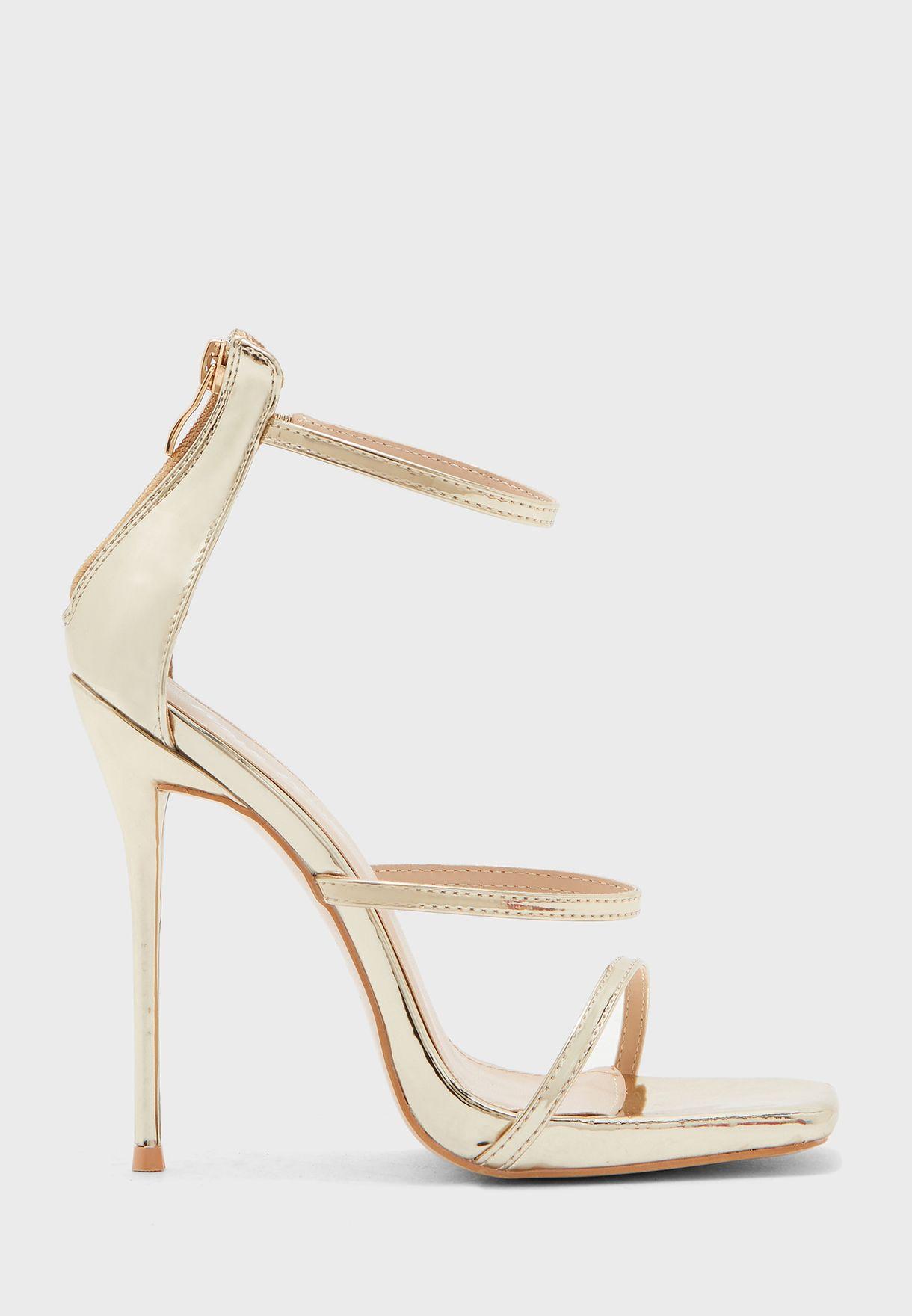 Paris Ankle Strap Sandal - Gold