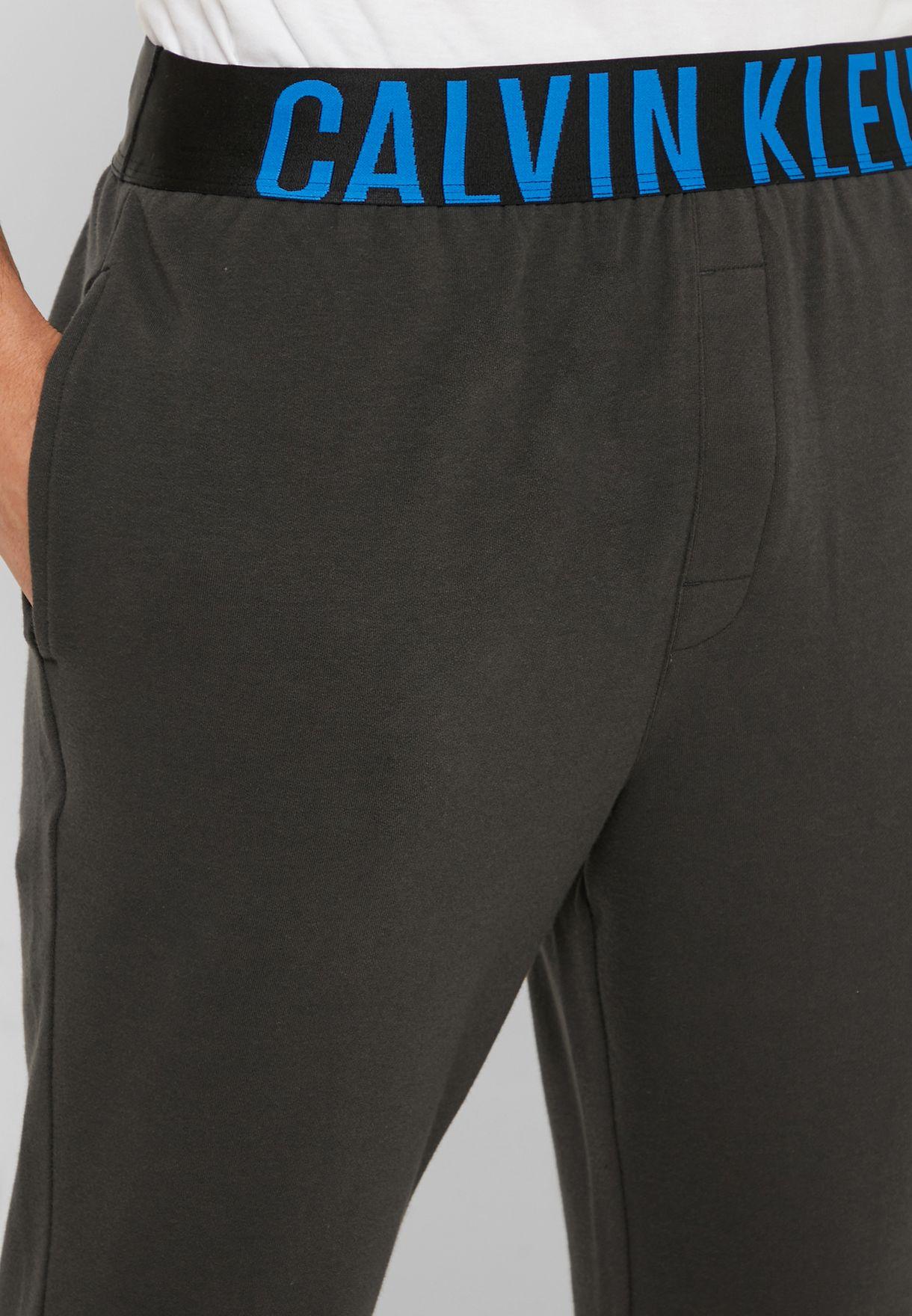 Elasticated Logo Band Cuffed Sweatpants